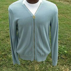 Michael Kors cardigan sweater dusty blue